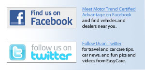 Meet Motor Trend Certified Advantage on Facebook and follow us on Twitter.