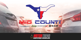Mid County Chrysler Dodge Jeep Ram FIAT Named Exclusive MotorTrend Certified Dealership in Port Arthur, Texas